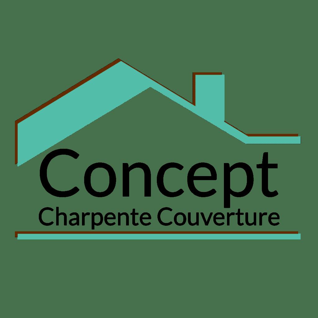 Concept Charpente Couverture Marseille Charpentier couvreur toit maison à ossature bois Logo